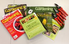 We're at the Philadelphia Flower Show with Organic Gardening Magazine so this week's giveaway is going to be BRILLIANT! It comes with a year's subscription to their magazine, Rodale's Ultimate Encyclopedia of Organic Gardening, Attracting Songbirds to Your Backyard, Garden Recipes & Plant Trios guide, a handy Organic Gardening tote bag and a set of Corona ComfortGEL pruning tools. Good luck everyone! Chris