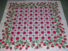 Vintage SIMTEX Tablecloth 1940's