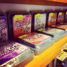 New in: Ranger Tim Holtz Distress Oxide Ink pads in 12 colours #distressinks #timholtz #oxideink #cardmaking #lancaster