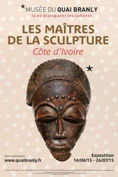 Les Maîtres de la sculpture de Côte d'Ivoire : Affiche.