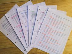 studyandfocus:done for the day, these are the synoptic essay plans I did today :) hope everyone had a productive day!