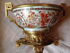 Coupe Compagnie Des Indes Monture Bronze Doré, Maison Villette, Proantic
