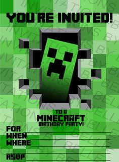 Free Minecraft Printable Invitation | Free printable