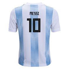 adidas Lionel Messi Argentina Youth Home Jersey 2018 Messi Argentina e1c6193a93b85