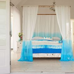 HousetoHome tips on how to dip dye curtains
