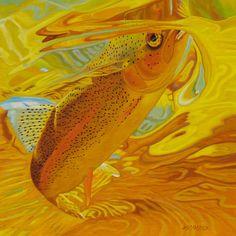 """""""Golden Rainbow"""" - AD Maddox  #flyfishing"""