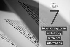 Capturing and storing reference information can be a nightmare. The trick is to have good tools and know where to put the different kinds of information.