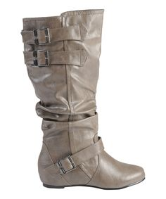 Take a look at this Hailey Jeans Co. Taupe Tiffany Boot on zulily today!
