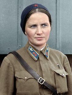 Hero of the Soviet Union Marina Raskova in Moscow, Russia.