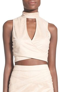 Missguided Faux Suede Crop Top available at  Nordstrom 06077f8fda9df