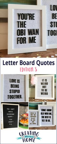 Letter Board Quotes: Edition 3 - creatingmaryshome.com