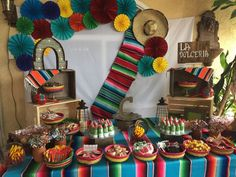 Pin by lauren womack on party ideas in 2019 fiesta mexicana, Mexican Theme Baby Shower, Mexican Fiesta Birthday Party, Fiesta Theme Party, Party Themes, Party Ideas, Theme Ideas, Theme Parties, Diy Ideas, Mexican Candy Table