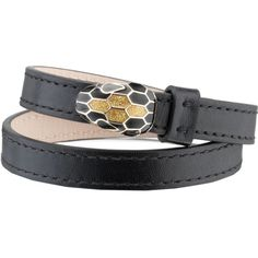BVLGARI Serpenti Forever Special Edition leather bracelet (1,460 SAR) ❤ liked on Polyvore featuring jewelry, bracelets, bulgari jewellery, bulgari, leather bangles, leather jewelry and bulgari jewelry