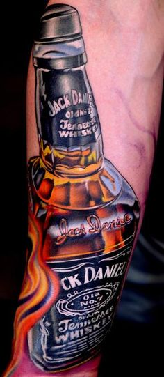 Not for me but well done ink. Jack Daniels -tattoo by Nikko Hurtado. Great Tattoos, Beautiful Tattoos, Body Art Tattoos, Tatoos, Awesome Tattoos, Wicked Tattoos, Badass Tattoos, Tribal Tattoos, Nikko Hurtado