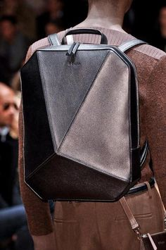 Zegna Love the backpack, and I really like this doubled up bag ensemble, even though I can't see all of the other bag...I can just visualize what it looks like and how it's made.