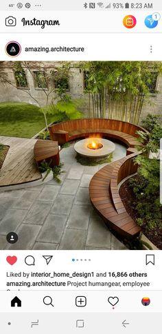 Backyard Layout, Backyard Plan, Fire Pit Backyard, Garden Ideas Homemade, Landscape Design, Garden Design, Garden Steps, Home Landscaping, Outdoor Settings