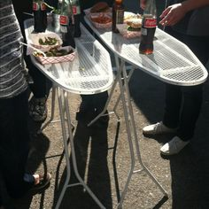 Food truck chic idea with old ironing boards