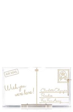Charlotte Olympia 'Pandora - Postcard' Clutch available at #Nordstrom