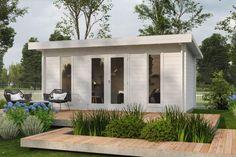 Anneks Albin Backyard Office, Garden Office, Fenetre Double Vitrage, Gazebo, Pergola, Cafe Shop Design, Rooftop Design, Container Architecture, Tiny House Cabin