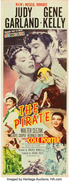 Ad art for insert poster featuring Judy Garland as Manuela and Gene Kelly as Serafin, with mustache. Old Movie Posters, Classic Movie Posters, Cinema Posters, Film Posters, Classic Books, Classic Movies, Liza Minnelli, Judy Garland, Musical Film