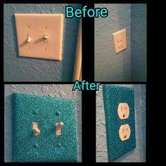 Glitter light switches