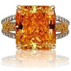 The famous Pumpkin Diamond, a Fancy Vivid Orange diamond is one of the most famous orange diamonds, with a finished weight of 5.54 carats. Bought and sold by the famous Harry Winston Jewelers
