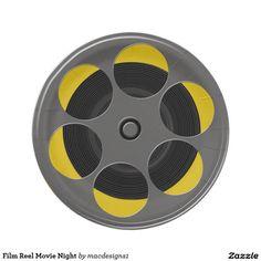 Film Reel Movie Night 7 Inch Paper Plate