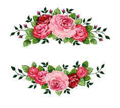 نتيجة بحث الصور عن سكرابز اطار ورد Wreath Clip Art Floral Border Design Flower Frame