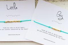 BIG/LITTLE Morse Code Bracelet Set