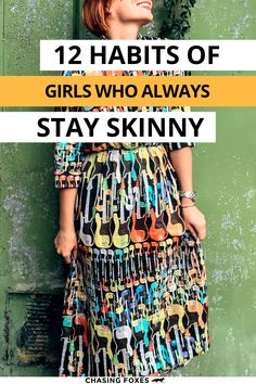 You don't have to lose weight when you keep it off. These habits of skinny women who always smash their weightloss goals by staying skinny will help you learn how to stay slim! #ChasingFoxes #WeightLoss