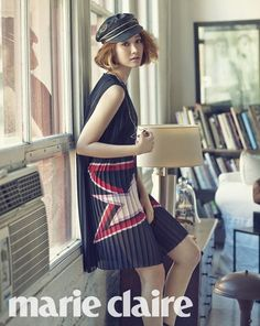 Go Jun Hee dresses in 'Tommy Hilfiger' from head to toe for 'Marie Claire' | http://www.allkpop.com/article/2015/03/go-jun-hee-dresses-in-tommy-hilfiger-from-head-to-toe-for-marie-claire