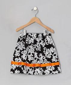 Inspiration Black & Orange Skirt- Toddler & Girls