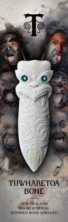 New Zealand Maori and tribal Inspired Bone Jewelry and Wearable Art