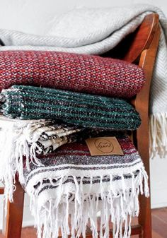 Cozy up this winter with a blanket from Give Perf and give back with every purchase from TOMS Marketplace.