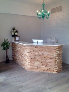 Welcoming Receptionist Desk ~Beach House Day Spa 34645 Woodward Ave, Birmingham, Michigan 48009 (248) 220-4485