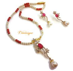 Dazzling ad #pendent #jewellery set buy online with #craftshopsindia