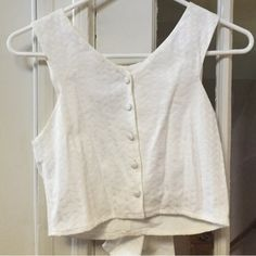 """Selling this """"Jacquard white crop top"""" in my Poshmark closet! My username is: oliviat723. #shopmycloset #poshmark #fashion #shopping #style #forsale #ASOS #Tops"""