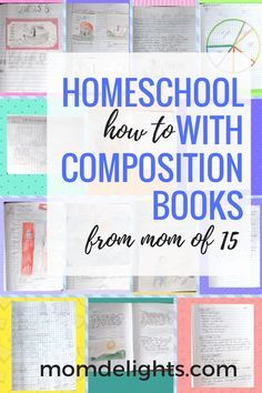 If you're looking for a low-cost, low-stress way to homeschool, why not try composition books? I know they aren't impressive by themselves, but with just a few ideas, tips, and directions they can become the best way to give your children a top-notch education! You see, these are ... Read More...