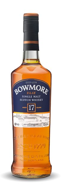 """Bowmore 17 years old After 17 years the whisky has reached a certain maturity that has proved to be a personal favourite with the last three Distillery Managers, explaining why Bowmore 17 Years Old is known locally as """"The Manager's Dram""""."""