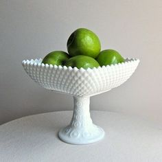 Large Milk Glass Compote or Footed Bowl by Indiana Glass Co