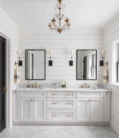 Beautiful master bathroom decor some ideas. Modern Farmhouse, Rustic Modern, Classic, light and airy bathroom design suggestions. Bathroom makeover tips and bathroom renovation ideas. Shiplap Bathroom Wall, Bathroom Renos, Bathroom Renovations, Remodel Bathroom, Bathroom Makeovers, Wood Floor Bathroom, Tile Floor, Budget Bathroom, Bathroom Furniture