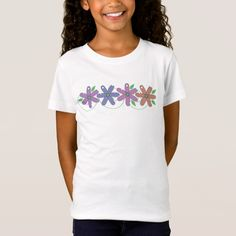 Pastel Flower Girls Shirt