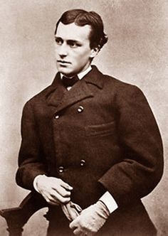 Here's a photo of an extremely handsome young (18 years old or so) Henry James. The photo dates from 1860 or 1861 when his family was in Newport, RI, and the original is at the Houghton Library at Harvard University (pf MS AM 1094).