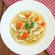 This Slow Cooker Chicken Noodle Soup is easy to make, perfectly delicious and oh so comforting! Must have recipe for a cold winter day!