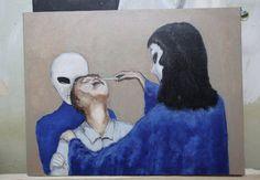 Hoboken artist David Huggins paints 'real' experiences as alien abductee