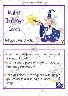 Teacher's Pet - Year 2 Maths Challenge Cards (pack 1) - Premium Printable…