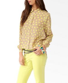 Ditsy Neon Hello Kitty® Shirt | FOREVER 21 - 2030186799