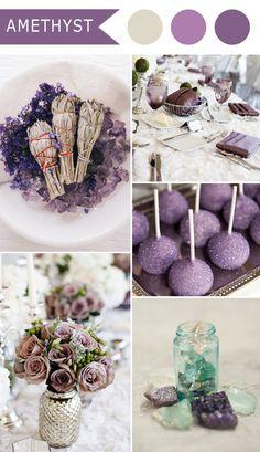 vintage amethyst purple elegant wedding color schemes