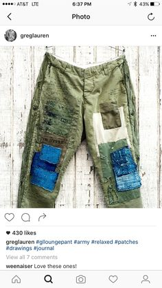 new style clothes Fashion Line, Diy Fashion, Mens Fashion, Fashion Outfits, Boro, Repair Jeans, Patchwork Jeans, Patched Jeans, Clothing And Textile