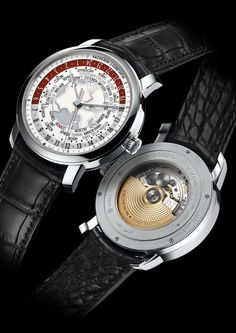 Watches by SJX: News: Vacheron Constantin Patrimony Traditionnelle World Time Only Watch High End Watches, Fine Watches, Cool Watches, Men's Watches, Analog Watches, Wrist Watches, Vacheron Constantin, Beautiful Watches, Elegant Watches